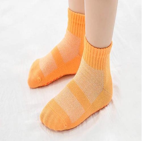 Leeshow 4Pairs Non-Slip Trampoline Socks for Kids
