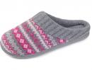 RockDove Women's Fair Isle Sweater Knit Memory Foam Slipper