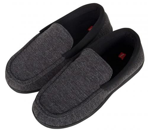 Hanes Men's Closed Back Indoor Outdoor Slipper House Shoes Comfort Memory Foam