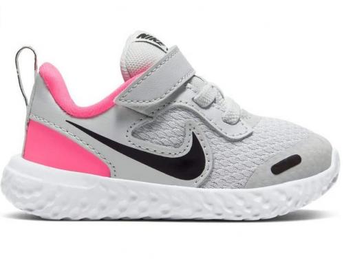 Nike Unisex-Child Revolution 5 Toddler Velcro Running Shoe