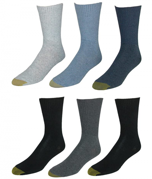 GOLD TOE Women's 6-Pack Turn Cuff Assorted Socks