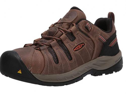 KEEN Utility Men's Flint 2 Low Steel Toe Non Slip Work Shoe