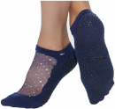 image of Shashi Star Navy yoga socks