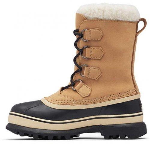 Sorel Caribou light brown & tan boots side view