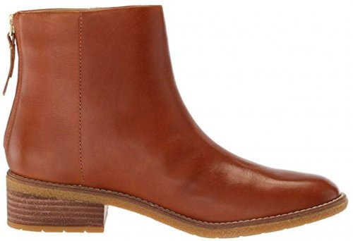 Sperry Maya Belle light brown & tan boots side view