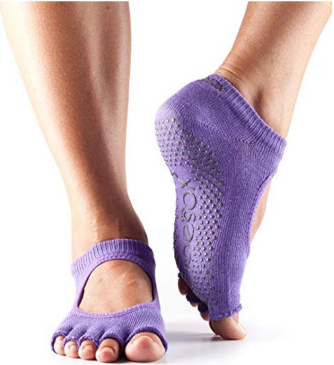 image of ToeSox Purple yoga socks