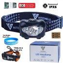 VITCHELO V800 running Headlamp Flashlight with White and Red LED Lights
