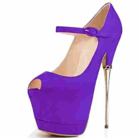 """cabaeb41cd15 The Sky High from YDN is not the type of high heel you see every day. While  the average stiletto tops out at 5"""""""